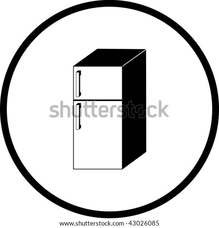 refrigerator symbol - stock photo