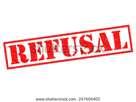 REFUSAL red Rubber Stamp over a white background. - stock photo