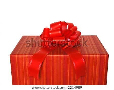 Reg gift-box with red strap