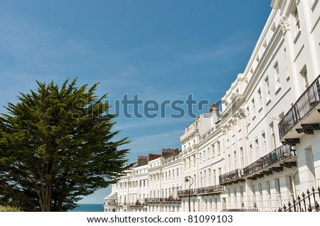 Regency architecture, Brighton - stock photo