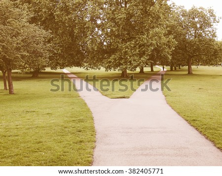 Regent Park landscape in London England UK vintage - stock photo