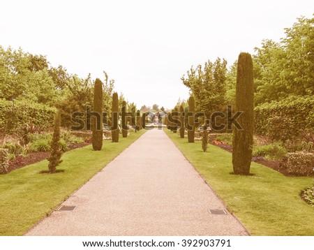 Regent's Park landscape in London, England, UK vintage - stock photo