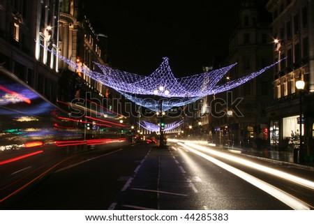 Regent Street in London - stock photo