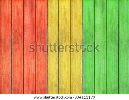 reggae colour and wooden floor texture Background - stock photo