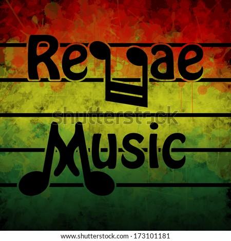 Reggae Music - stock photo