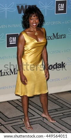 Regina King at the Women In Film Presents The 2007 Crystal and Lucy Awards held at the Beverly Hilton Hotel in Beverly Hills, USA on June 14, 2007.