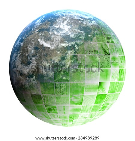 Regional Network Technology System as a Service - stock photo