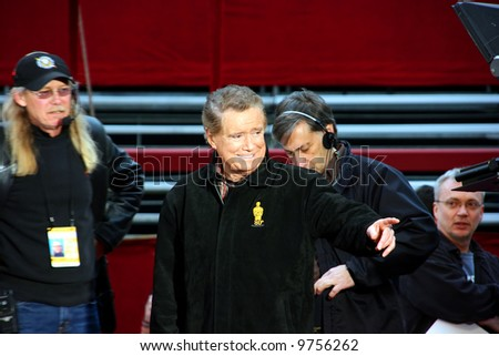 Regis Philbin at the Oscar academy award at the Kodak Theather in Los Angeles - stock photo