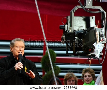 Regis Philbin at the  Oscar academy awards at the Kodak Theather in Los Angeles - stock photo