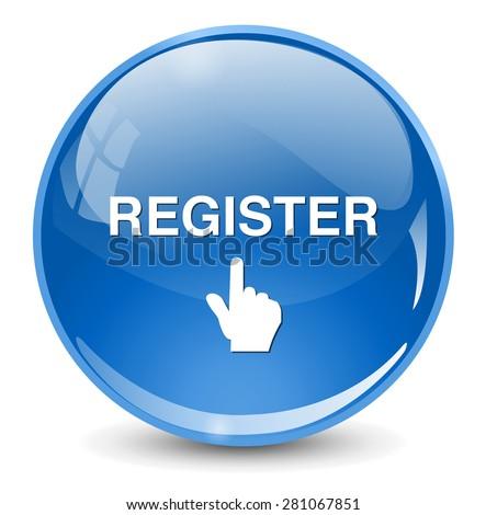 register button - stock photo