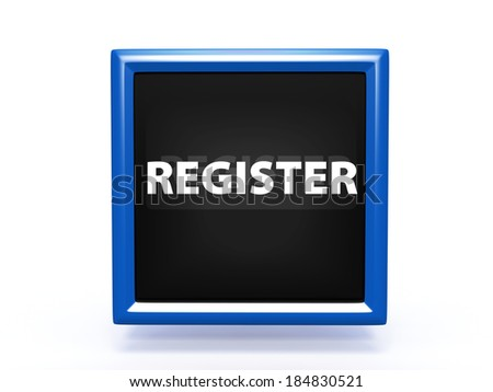 register square button on white background