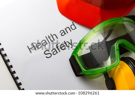 Register with goggles, earphones and helmet - stock photo