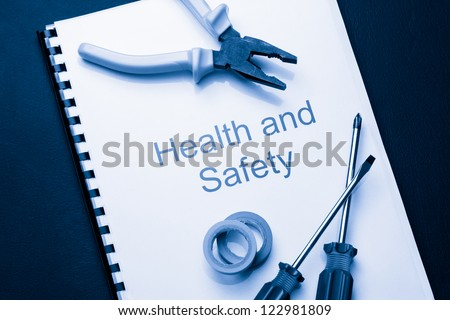 Register with pliers and screwdrivers - stock photo