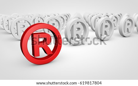 Registered Trademark Business Concept Red Icon Stock Illustration
