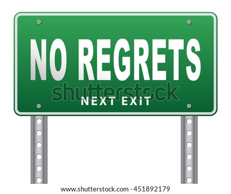 Regret or no regrets saying sorry and offer apologize being ashamed for bad decisions 3D illustration, isolated, on white  - stock photo