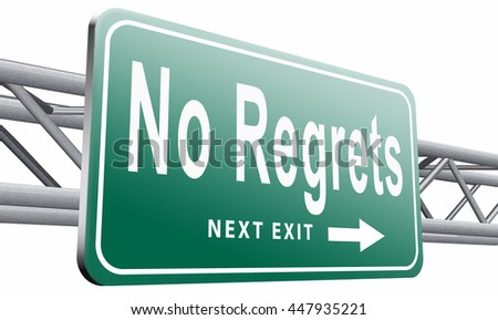 Regret or no regrets saying sorry and offer apologize being ashamed for bad decisions,isolated, on white background.3D illustration  - stock photo