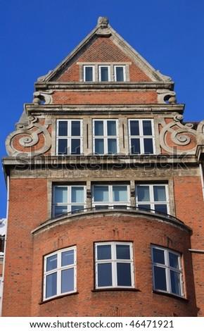 regular building in Copenhagen - stock photo