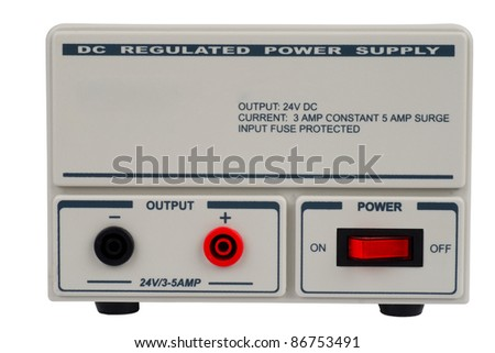 Regulated DC power supply for use in a electronic laboratory - stock photo