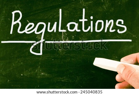 regulations concept - stock photo