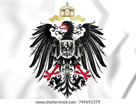 Reichsadler (1888-1918) of German Empire. 3D Illustration.