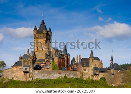 Reichsburg castle in Cochem, Germany - stock photo