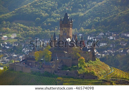 Reichsburg Cochem, castle Cochem, Germany - stock photo