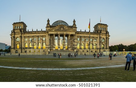 Reichstag building (Bundestag) is a historical edifice in Berlin, Germany, constructed to house the Imperial Diet of the German Empire.