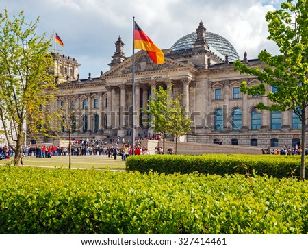 Reichstag building seat of the German parliament, Berlin, Germany - stock photo