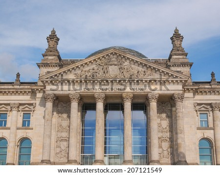 Reichstag German houses of parliament in Berlin Germany
