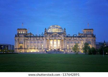Reichstag in Berlin, capital of Germany