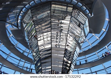 Reichstag inside, Berlin - stock photo