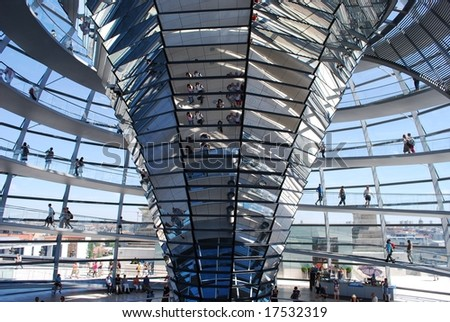 Reichstag inside view - stock photo
