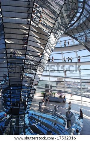 Reichstag modern architecture - stock photo