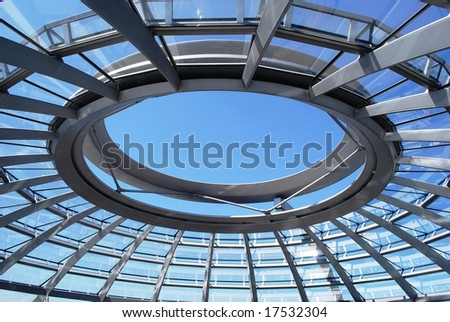Reichstag roof inside - stock photo