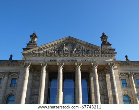 Reichstag (The German Parliament) in Berlin, Germany