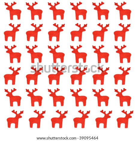Reindeer at the white background.