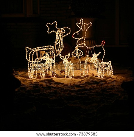 Reindeer Christmas decoration - stock photo
