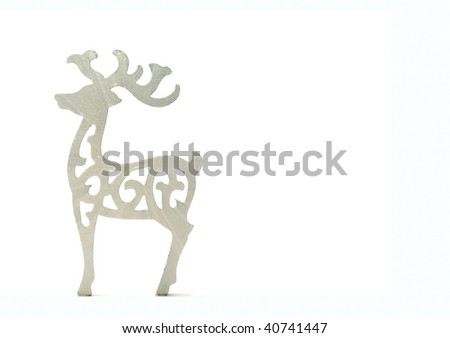 Reindeer with white space - stock photo
