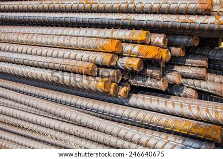 reinforce steel iron rod - stock photo