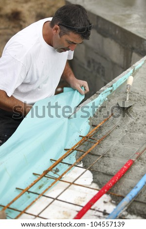 Reinforced concrete - stock photo