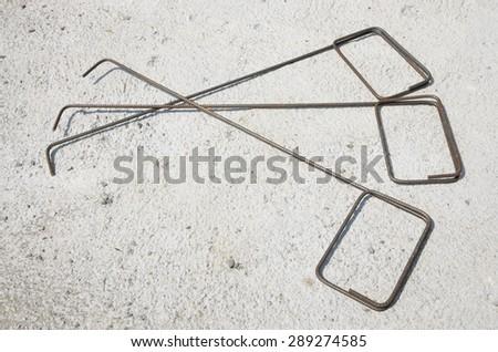 Reinforcement stirrups - stock photo