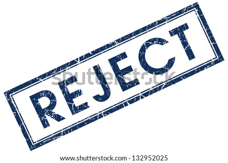 reject stamp - stock photo