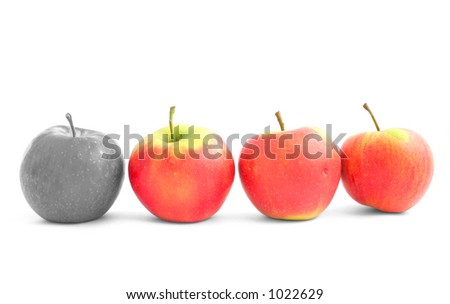 rejected by the group - stock photo