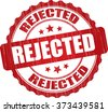 Rejected grunge rubber stamp. - stock photo