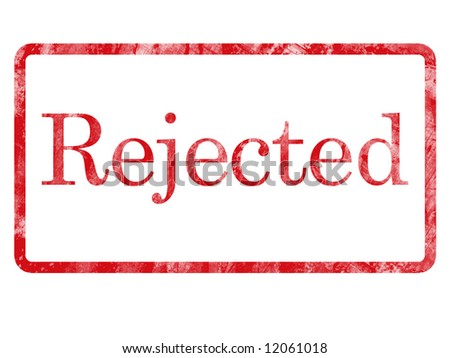 Rejected message stamp. - stock photo