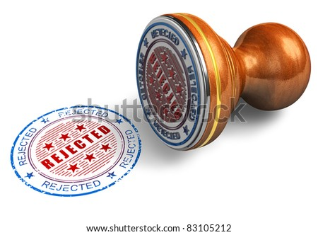 Rejected stamp isolated on white background - stock photo