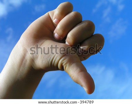 Rejection gesture – child hand