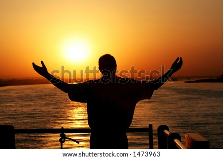 Rejoice Sunset - stock photo