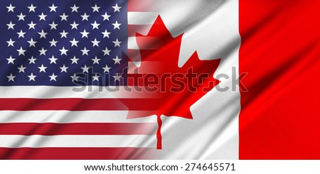Relations between countries. USA and Canada.  - stock photo