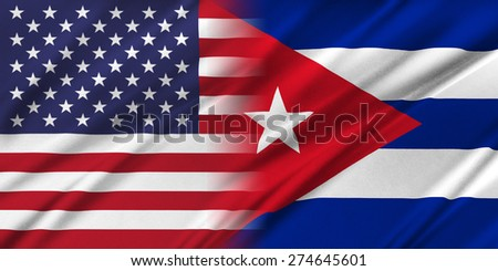 Relations between countries. USA and Cuba.  - stock photo